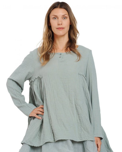 Ewa i Walla Cotton Green Clay Tunic Top 44743 AW20