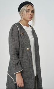 Bliss BY VIOLETTA Linen Coat NIKI 70201 AW20