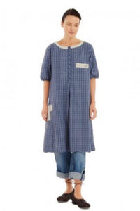 Ewa i Walla Blue Check Dress 44715 SS20