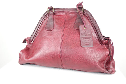 Rehard Vintage Leather Bag Raspberry BS-6401