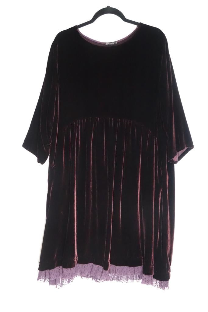 Grizas Ruby Velour Dress 91413-X20-S73 AW20