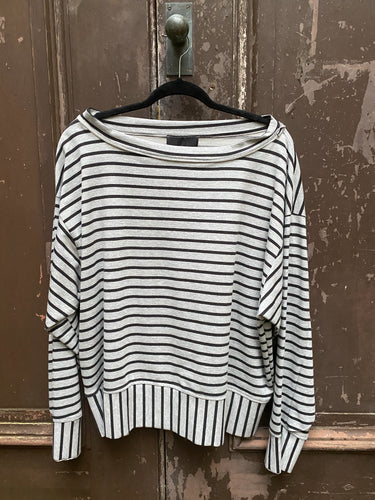 Creare Grey Striped Long Sleeve Top 18.1.02.011
