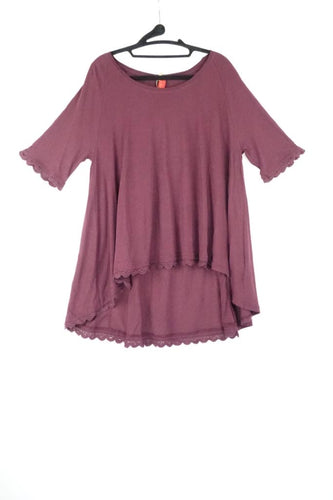 Ewa I Walla Lace Cuff Bordeaux Blouse AW19 44695