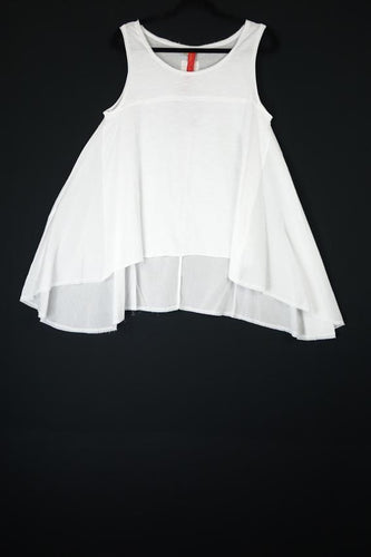 Ewa I Walla White Sleeveless Swing Top 33254