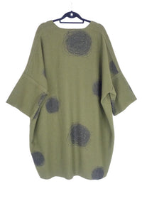 Ralston Green Spotted Dress 78842 AW19