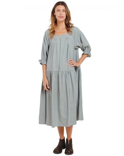Ewa i Walla Green Clay Cotton Dress 55675 AW20