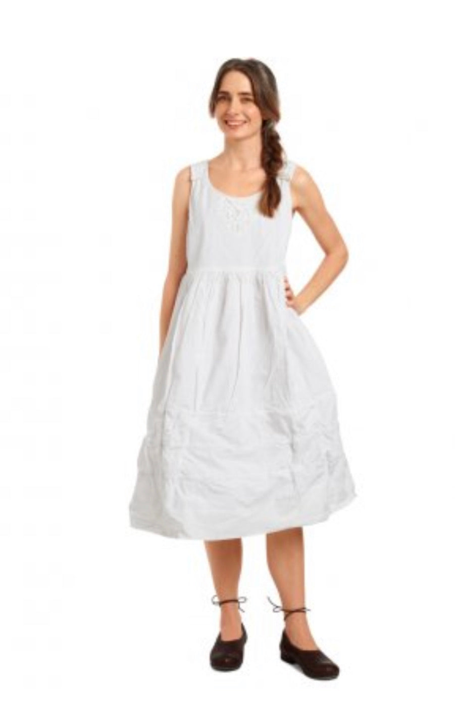 Ewa i Walla Crisp White Cotton Dress 55650 SS20