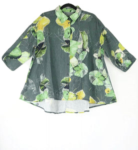 Grizas Leaf Print Oversized Shirt 51686