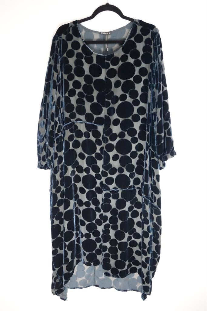 Grizas Black Spotted Dress 91363A-S136 AW20