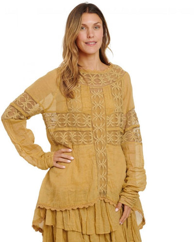 Ewa i Walla Cotton Lace Detail Tunic 44750 AW20