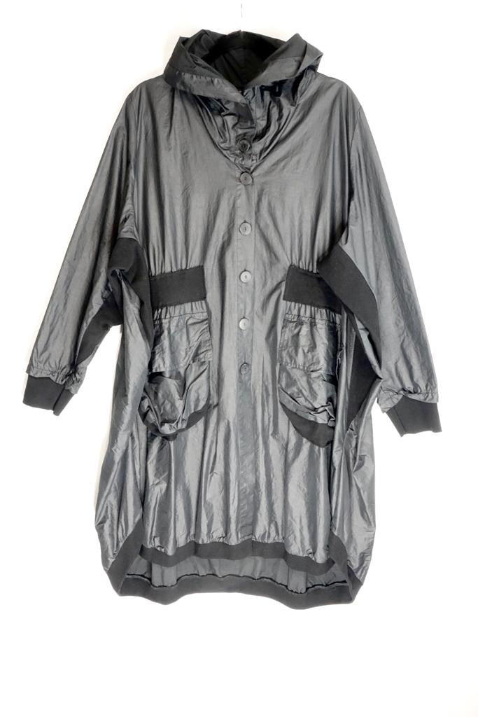 Grizas Grey Button Down Jacket 1050-PE4-T45-17 AW20