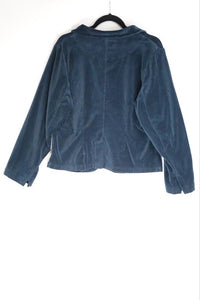 Grizas Blue Velour Jacket 71151-M10 AW20