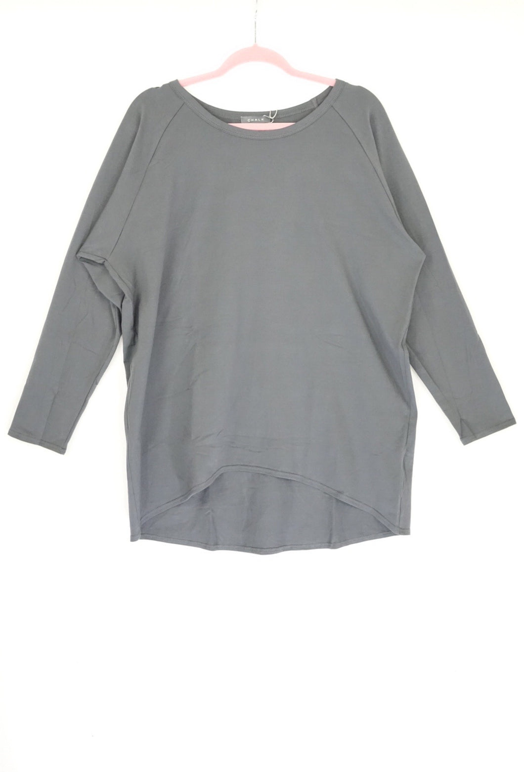 Chalk Long Sleeve Grey Top