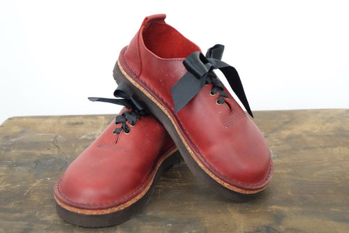 Handmade Red Leather Shoes Size 5 by 'Shŵs & Bŵts by Anna'