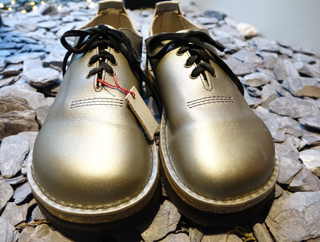 Handmade Pewter Leather Shoes by 'Shŵs & Bŵts by Anna' UK5