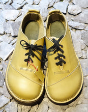 Handmade Citrus Green Leather Shoes by 'Shŵs & Bŵts by Anna' UK5