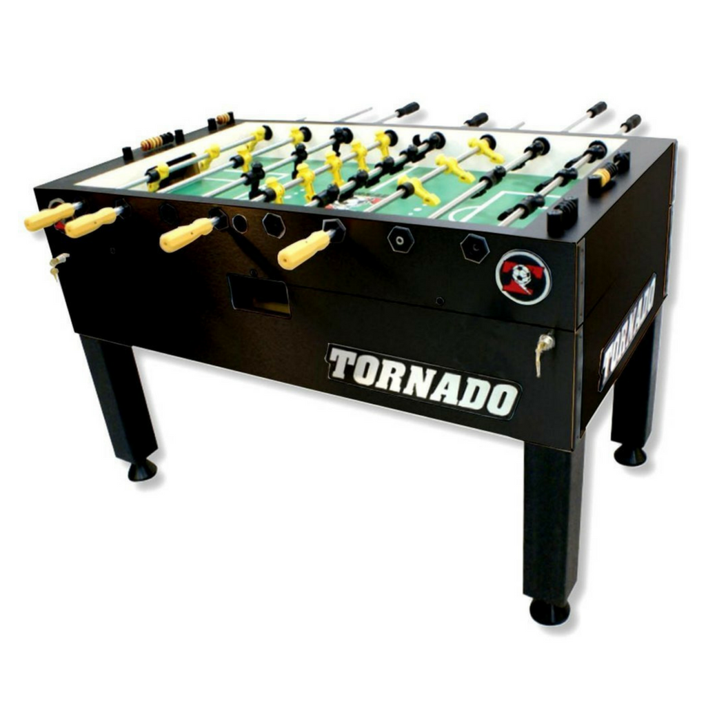 Tornado T3000 Black Foosball Table - Foosball Warehouse