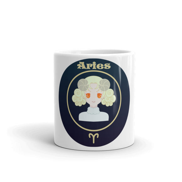 Aries Oval Mug | Astrology Emoji's