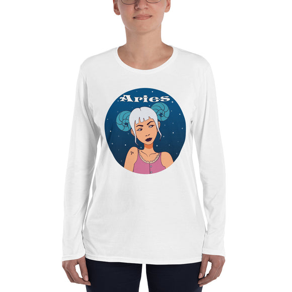 Aries sign Ladies' Long Sleeve T-Shirt