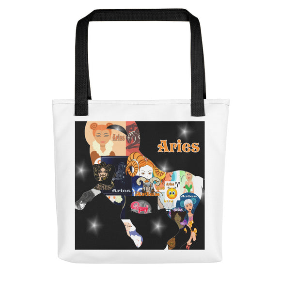 Aries Collage Tote bag | Astrology Emoji's