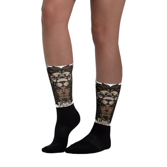 Leo Aztec Socks | Astrology Emoji's