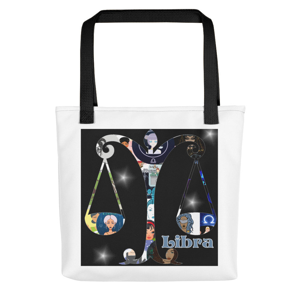 Libra Collage Tote bag | Astrology Emoji's