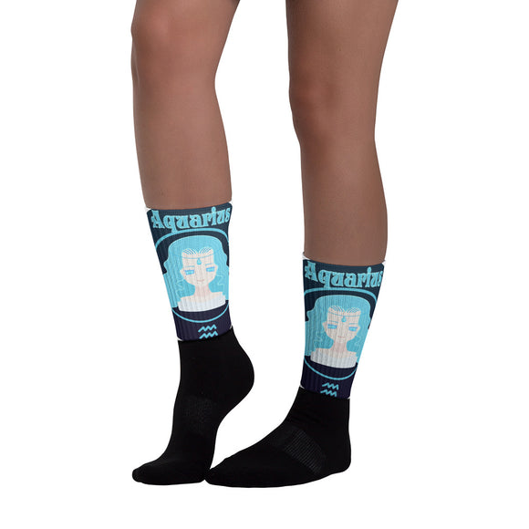 Aquarius Oval Socks | Astrology Emoji's