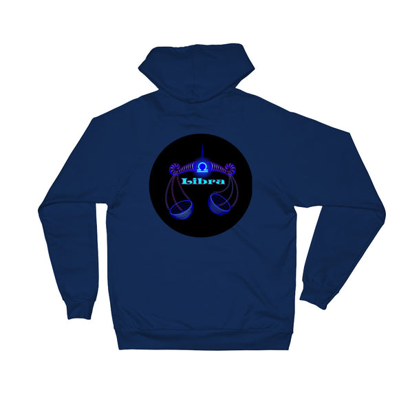 Libra Unisex Fleece Hoodie | Astrology Emoji's