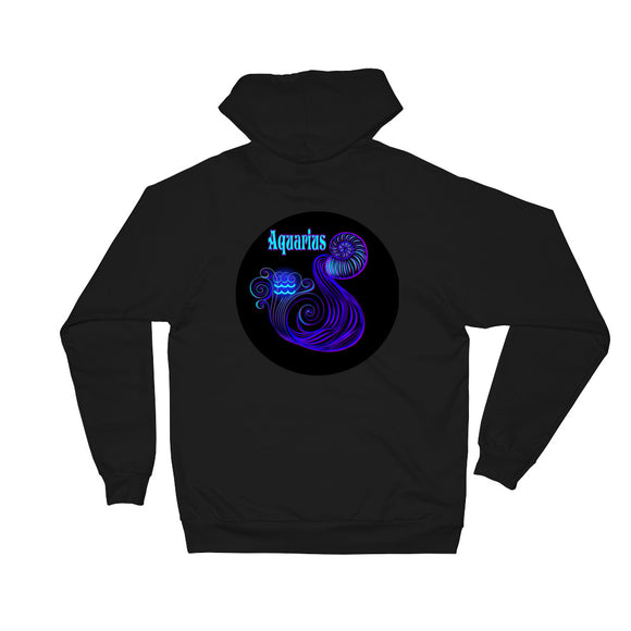 Aquarius Unisex Fleece Hoodie | Astrology Emoji's