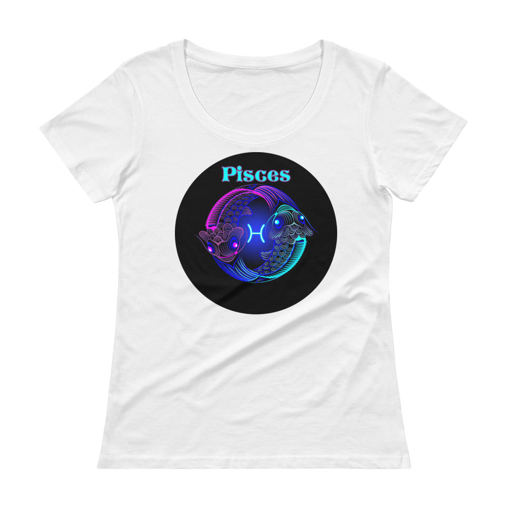 Pisces Ladies' Scoop Neck T-Shirt | Astrology Emoji's
