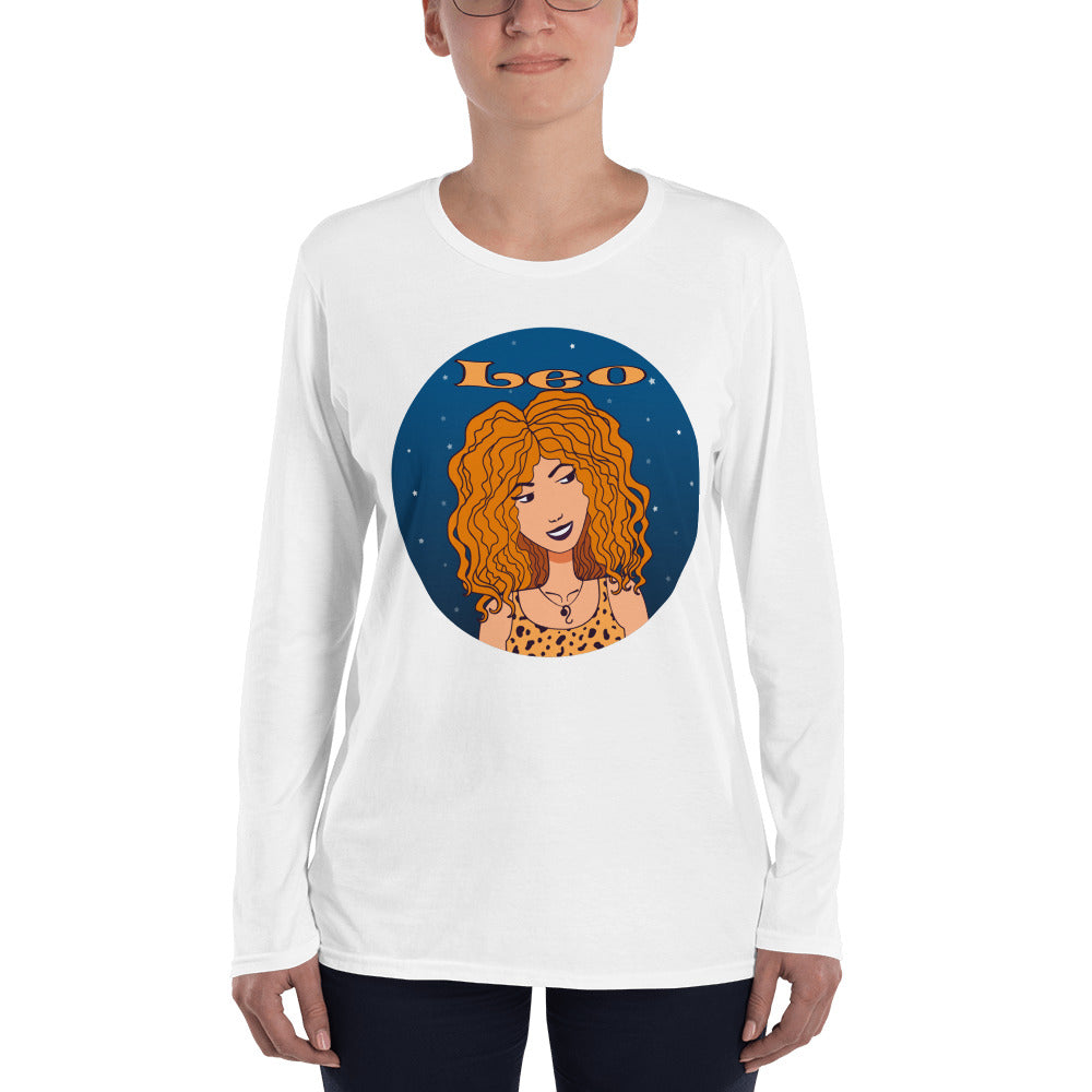 Leo sign Ladies' Long Sleeve T-Shirt