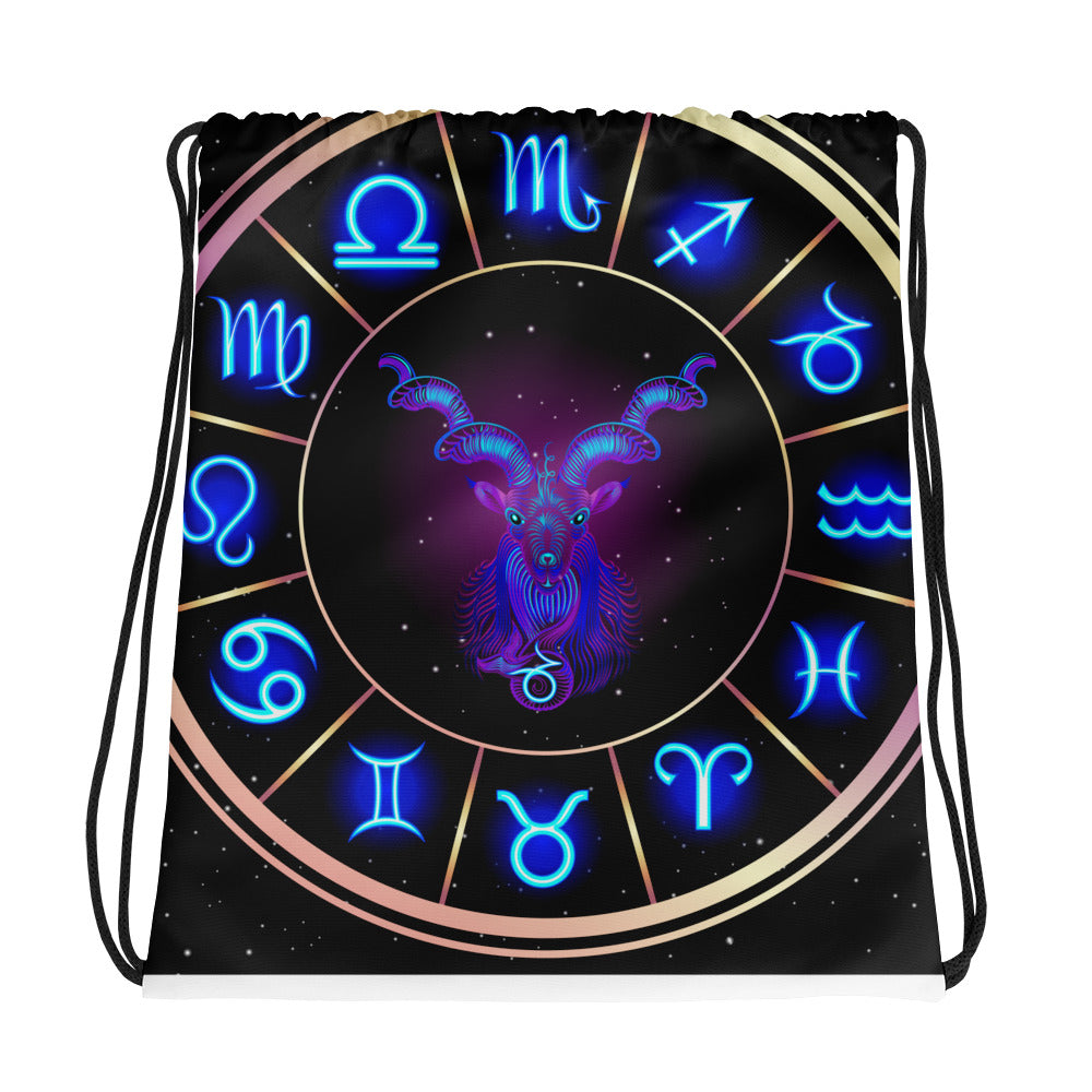 Capricorn Drawstring bag | Astrology Emoji's