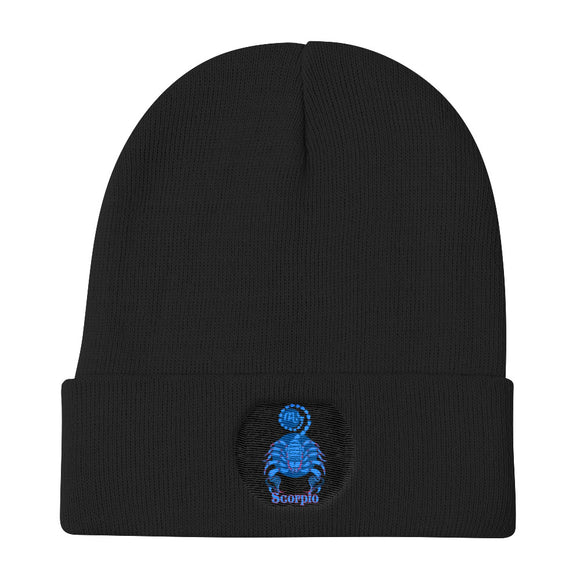 Scorpio Sign - Knit Beanie | Astrology Emoji's