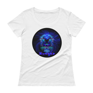 Leo Ladies' Scoop Neck T-Shirt | Astrology Emoji's