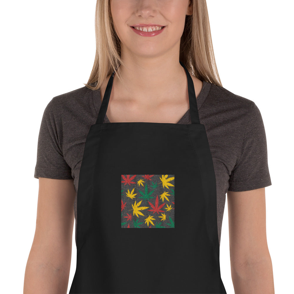 420 Embroidered Apron | Astrology Emoji's