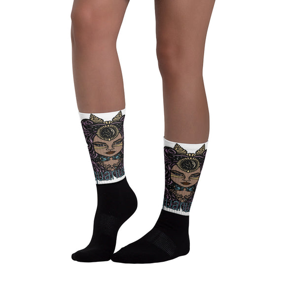 Aquarius Aztec Socks | Astrology Emoji's
