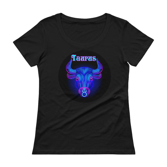 Taurus Ladies' Scoop Neck T-Shirt | Astrology Emoji's