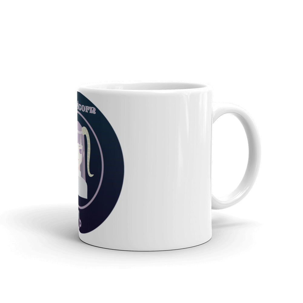 Capricorn Oval Mug | Astrology Emoji's