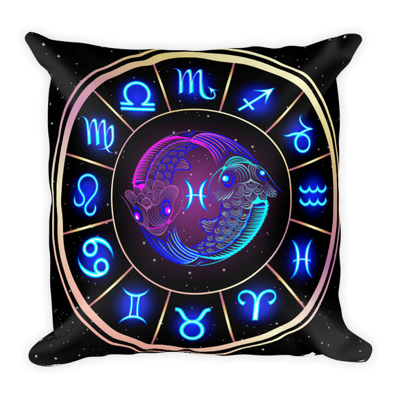 Pisces Throw Pillow | Astrology Emoji's