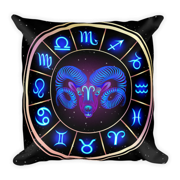 Aries Throw Pillow | Astrology Emoji's
