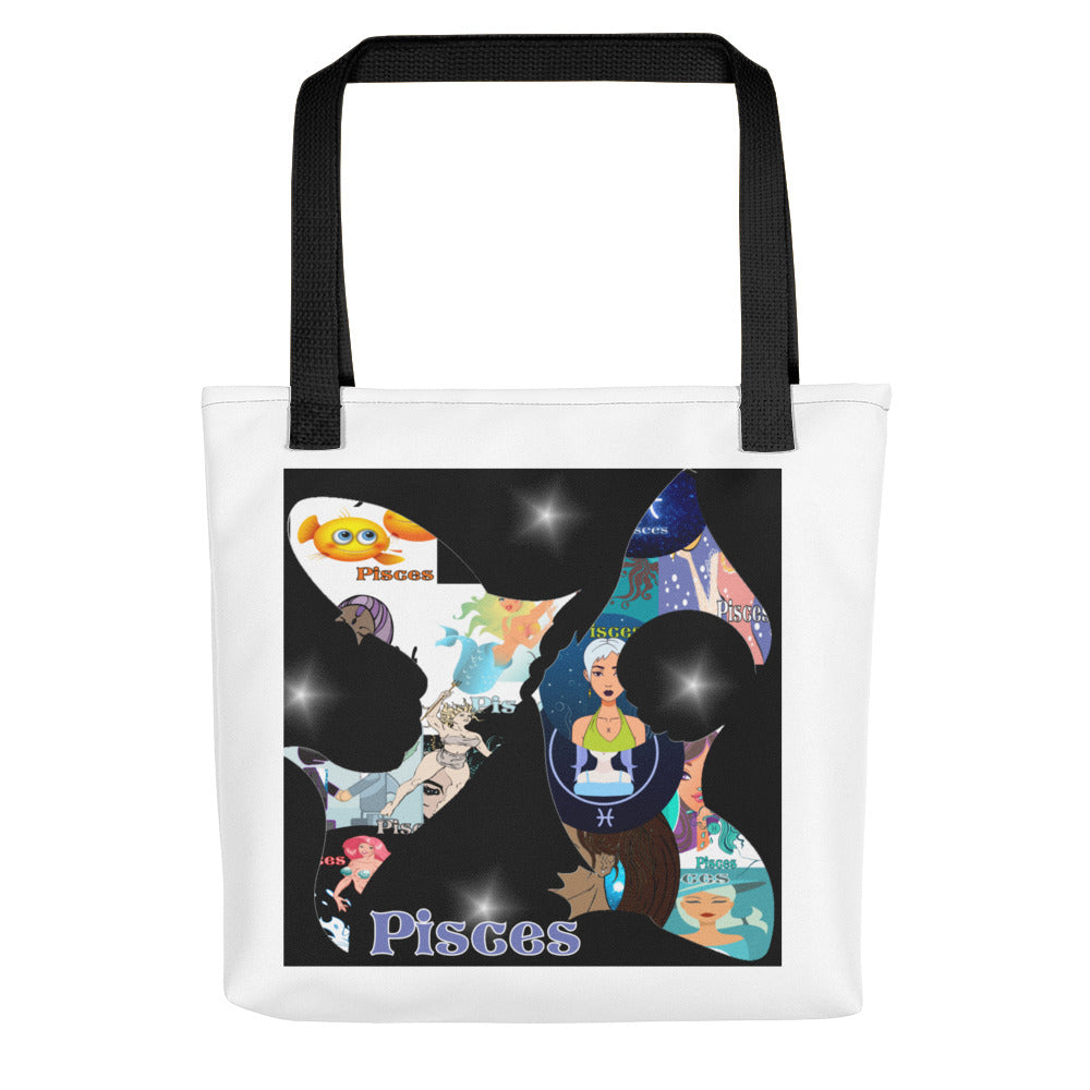 Pisces Collage Tote bag | Astrology Emoji's