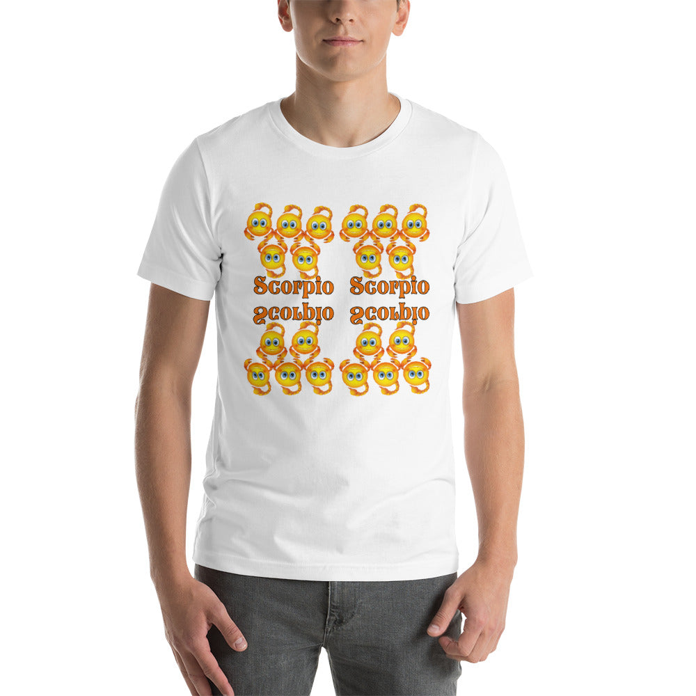 Scorpio Emoji Short-Sleeve Unisex T-Shirt | Astrology Emoji's