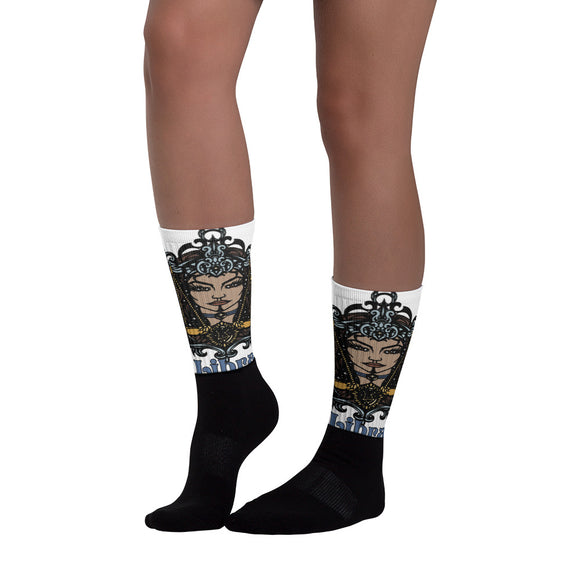 Libra Aztec Socks | Astrology Emoji's