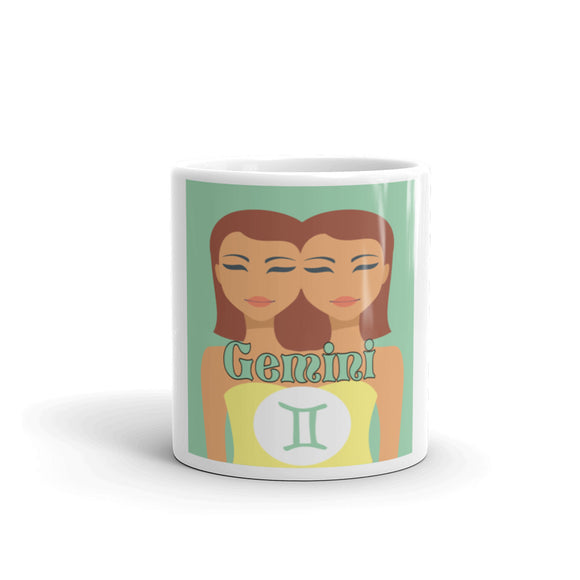 Gemini Square Mug | Astrology Emoji's