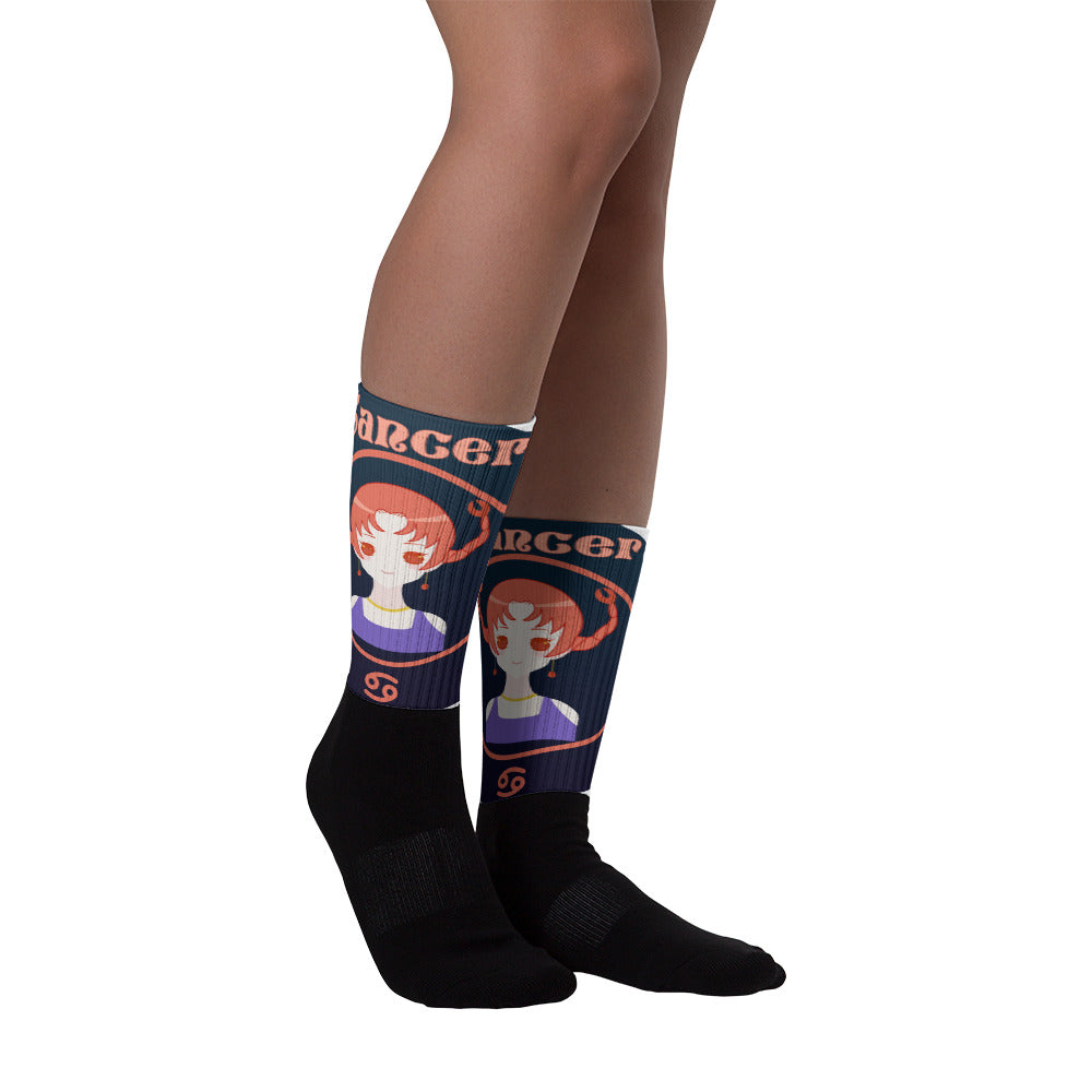 Cancer Oval Socks | Astrology Emoji's