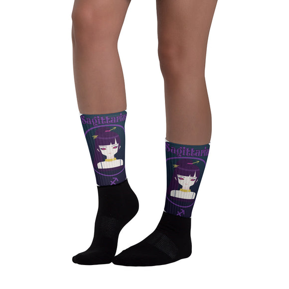 Sagittarius Oval Socks | Astrology Emoji's
