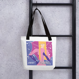 "Aquarius ""Snowflakes"" Tote bag 
