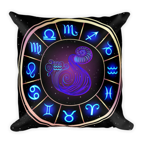 Aquarius Throw Pillow | Astrology Emoji's