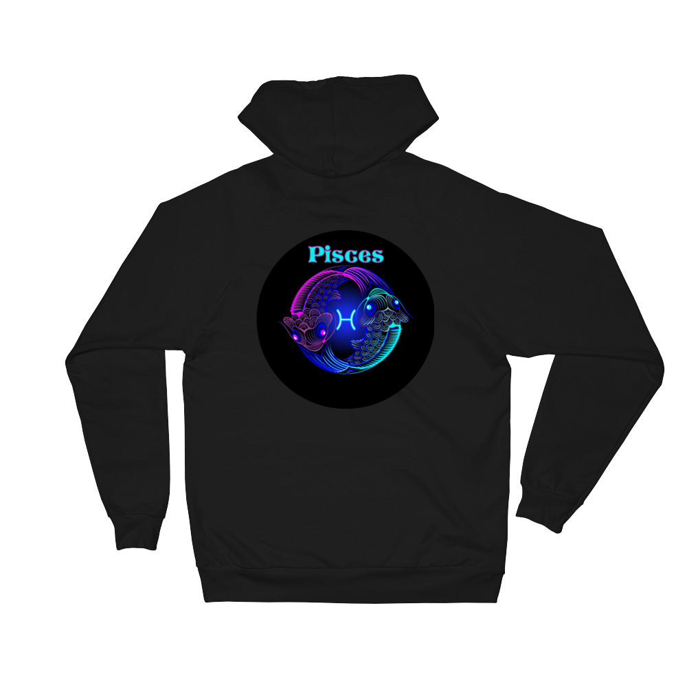 Pisces Unisex Fleece Hoodie | Astrology Emoji's