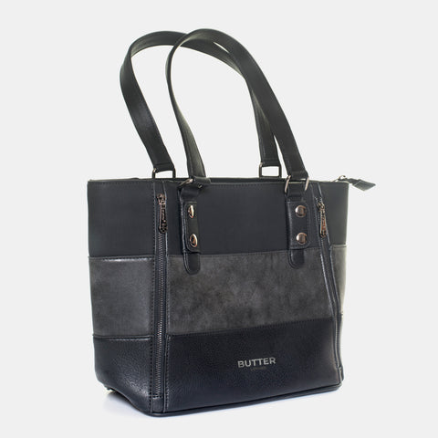 Toscana 38 - Butter Leather Sturdy Black Carryall